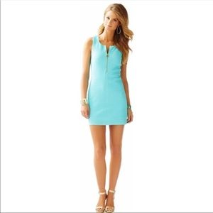LILLY PULITZER blue lynd zipper front dress 👗
